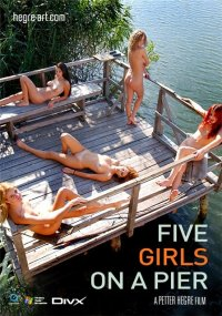 Hegre Art Video - Five girls on a pier - 015